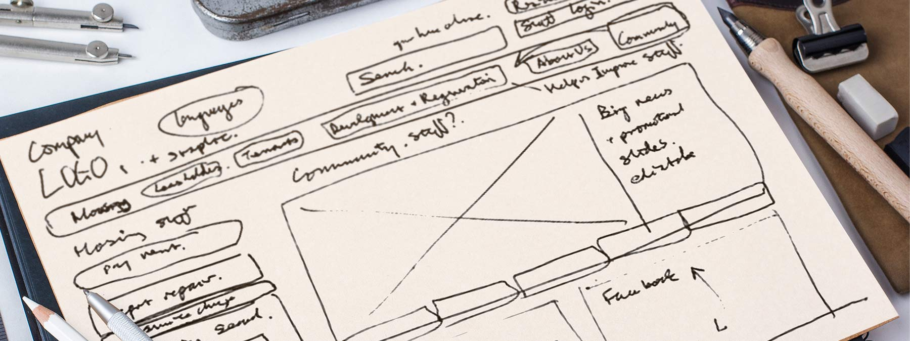 econclub website wireframes